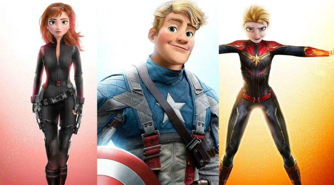 Frozen, i protagonisti diventano membri degli Avengers in questo stupendo crossover