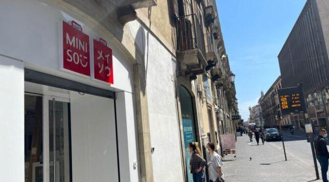 Miniso, il brand di lifestyle Giapponese sceglie Catania per l'unico store del Sud
